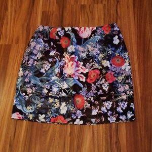 NWT Minkpink Botanica Satin Mini Skirt